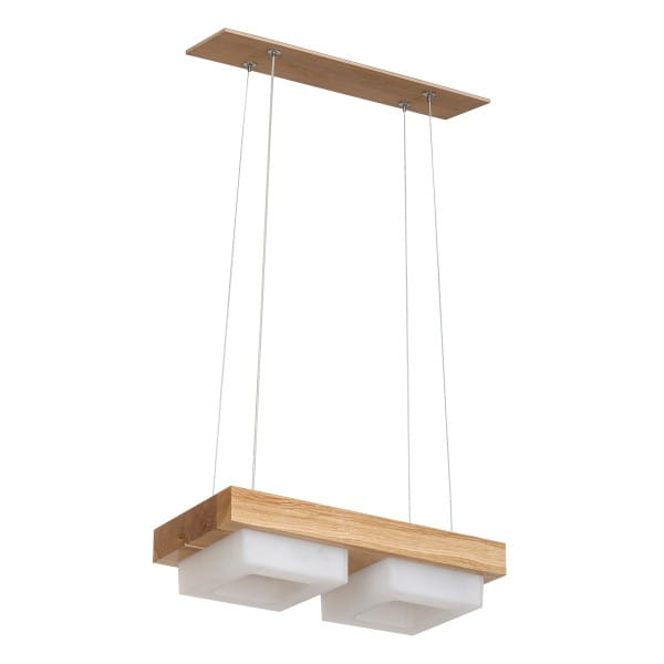 LED Pendelleuchte OSLO Holz/Weiß 24W 1680lm