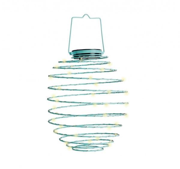 LED Solar-Spirale blau