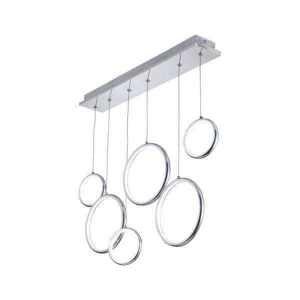 LED Pendelleuchte ANELLO chrom aus Metall/Acryl 700mm
