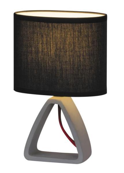 Tischlampe modern beton/schwarz E14 Henry